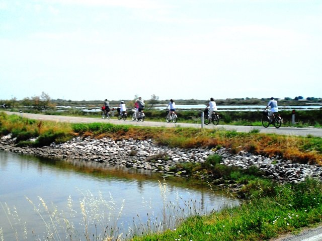 in bici in laguna